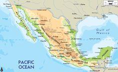 El mapa de México:    México es en el continente de norte america entre el Océano Pacifico y el Golfo de México. El capital de México es la Ciudad de México. El población de México es 113,423,047. En México hablan español.