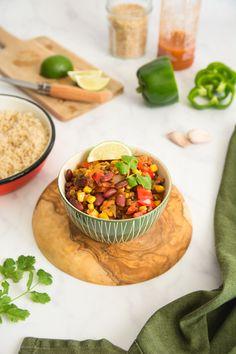 Recette végétarienne Chili sin carne Veggie Recipes, Veggie Food, Hummus, Veggies, Vegan, Ethnic Recipes, Balance, Chili Con Carne, Lentils