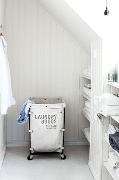 House of Philia House Of Philia, House Doctor, Laundry Room Inspiration, Attic Spaces, Small Room Bedroom, Home Organization, Organizing Tips, Organising, Cleaning Tips