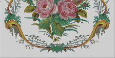 Gallery.ru / Фото #32 - Вышивки моей мамы (и схемы к ним) - livadika Cross Stitch Cushion, Vintage Cross Stitches, Original Image, Needlepoint, Cross Stitch Patterns, Crochet, Flowers, Zoom Zoom, Stitching