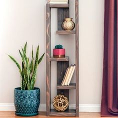 Easy DIY modern bookshelf idea with plans. Simple project for living room or dining room or any modern mid century space. # Easy DIY room How To Build A Modern DIY Bookshelf - In 5 Steps Wood Projects For Beginners, Scrap Wood Projects, Easy Woodworking Projects, Popular Woodworking, Woodworking Workbench, Diy Furniture Easy, Diy Furniture Projects, Baby Furniture, Furniture Stores