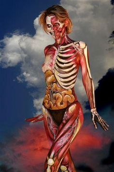 Amazing Horror Body Paint - A collection of body paint victims of makeup artist, Nick Wolfe.