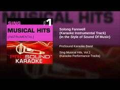 Solong Farewell (Karaoke Instrumental Track) (In the Style of Sound Of M...