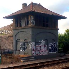 abandoned New York, New Haven  Hartford RR control tower by t55z on Flickr.