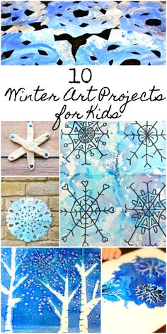 10 Winter Art Projects for Kids #watercolor #kidsart #snowflake
