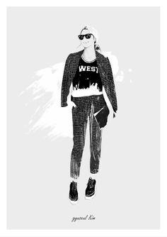 #illustration# #drawing #artwork #fashion illustration / gyu-seul Kim (2014) http://blog.naver/hanel67