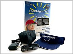 http://homeimprovementtools.info/feel-bright-8000-to-12000-lux-sad-light-therapy-visor/- The Feel Bright Light Visor is a portable device that works just as well as a 10000 lux desktop unit.