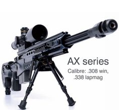 Accuracy International AW and AX Series. In my opinion the best sniper rifles in the world.  www.accuracyinternational.com