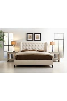 Nice. Another grand tufted bed.