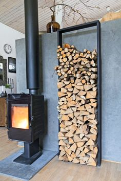 Diy Firewood Rack Ideas With Ingenious Designs - House &.- Diy Firewood Rack Ideas With Ingenious Designs – House & Living Diy Firewood Rack Ideas With Ingenious Designs – House & Living - Firewood Rack Plans, Indoor Firewood Rack, Firewood Holder, Fireplace Set, Fireplace Design, Wood Holder For Fireplace, Minimalist Fireplace, Wooden Sheds, Storage Design