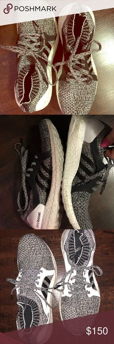 Adidas uncaged 🌟Ultra Boost🌟 ADIDAS🌟ten 🌟Grey/Black/White 🌟uncaged, slip your foot in & move!🌟 the uncaged are like socks.. like slipping into socks, however I always wore socks with mine. But I hear you don't need too 🌟 the ULTRA BOOST are the best of the adidas series! Purchased in November, not worn that much. Excellent condition ♥️ adidas Shoes Sneakers