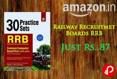 Amazon Brings 30 Practice Sets Railway Recruitment Boards RRB (Non-Technical Cadre) 2016 Book Just Rs. 87. The Railway Recruitment Board (RRB) has announced the recruitment to the posts of Non-Technical Cadre in Indian Railway.   http://www.paisebachaoindia.com/buy-30-practice-sets-railway-recruitment-boards-rrb-non-technical-cadre-2016-just-rs-87-amazon/
