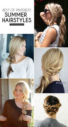 Get the hair off your neck this summer with these unique and EASY summer hairstyles, courtesy of Pinterest! #besthairstyles #easyhair #summerhair #hair