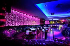 Wonderful Neon Lights In A Night Club Lounge HD Desktop Background wallpaper free Club Lighting, Neon Lighting, Strip Lighting, Restaurant Design, Restaurant Bar, Nightclub Design, Bars And Clubs, Led Light Strips, Led Strip