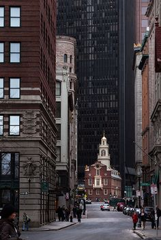 And the fact that the Old State House is still there, tucked away between skycrapers