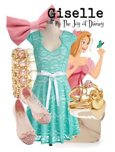 Giselle (Enchanted) by thejoyofdisney on Polyvore featuring Forever 21, Disney and plus size dresses