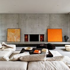 Modern and contemporary living room decorated with framed arts - Home Decorating Trends - Homedit