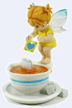 Tea Bag Fairie - From Series Five of the My Little Kitchen Fairies collection