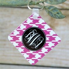 Monogram Key chain under $20... great affordable gift!  From Monogram Lane