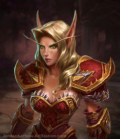 ArtStation - World of Warcraft Blood Elf, Jordan Kerbow