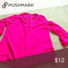 Neon pink top Charlotte Russe neon pink top Tops