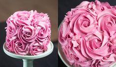 Bolo de rosas passo a passo 2