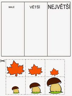 Pro Štípu: Pracovní listy BARVY TVARY Kindergarten Centers, Preschool Math, Math Centers, Autumn Activities For Kids, Math For Kids, Book Activities, Sudoku, Pre School, Special Education