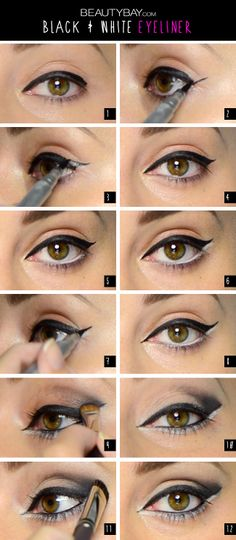 The Monochrome Eyeliner Tutorial! Click through to view the video makeup tutorial | #EssentialBeauty | BeautyBay.com