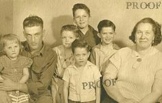 Donnie Yeager (back row) David Yeager Doug Yeager (middle row) Gloria (squeak)Yeager/Sudrock Donald Yeager  George Yeager  Bertha------/Yeager