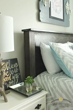 DIY queen size wood headboard for under $35