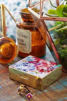 Plum & Bow Floral Enamel Stash Box