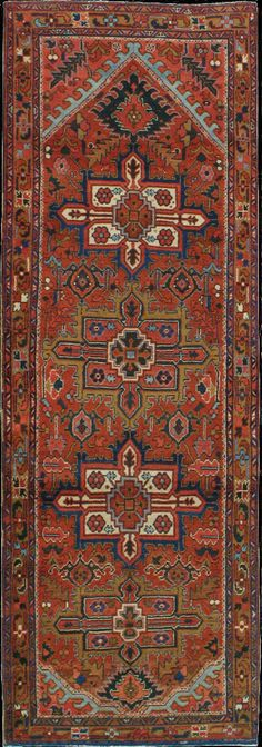 Persian Heriz runner, mid 20th c