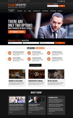 Public Speakers Brand Building Business Website Relations Motivational Web Design