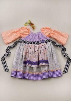 My Violet Longsleeve Peasant Dress
