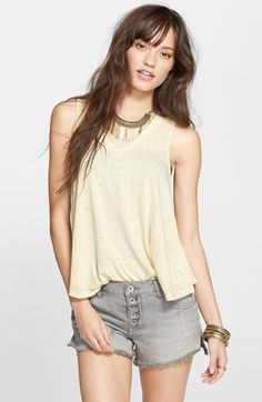 Free People 'Breezy' Seam Detail Slub Knit Tank available at #Nordstrom Cute!  XS to L (12). A few colors.