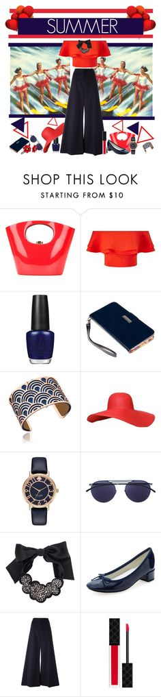 """Untitled #397"" by jewelryrecipe ❤ liked on Polyvore featuring Rocio, Miss Selfridge, OPI, Klix, Les Georgettes, Kate Spade, Mykita, Vera Wang, Repetto and STELLA McCARTNEY"