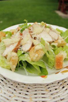 Grilled Chicken Caesar Salad ~ #SundaySupper - The Messy Baker Blog