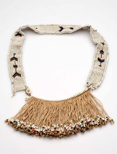 Africa | Cache sexe or modesty apron from the Xhosa people of South Africa | Natural fiber and glass beads | ca. 1938 or earlier
