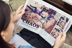 Chaosfamilienfotos in der Alverde des Drogeriemarktes dm
