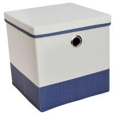 "Lidded Cube Storage Bin 11"" - Room Essentials™"
