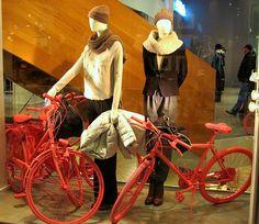 """""""on your bike"""", pinned by Ton van der Veer"""