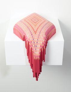 Colored Pencil Sculpture by Lionel Bawden