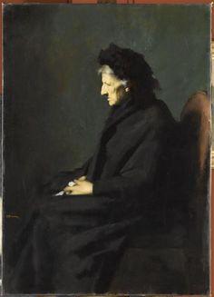 Jean-Jacques Henner -  Mme Séraphin Henner,  1901,  Paris, musée Jean-Jacques Henner http://www.musee-henner.fr/home