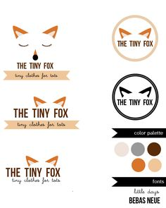 the tiny fox logo evolution. From fox face to fox ears this logo illustrates how less can be more  #logo #design #kids