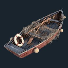 ArtStation - Old fishing boat, Artur Allakhverdian The Effective Pictures We Offer You About Fishing Fishing Rod Storage, Fishing Tackle Box, Fishing Tips, Bass Fishing, Fishing Boats, Ice Fishing, Bikini Fishing, Fishing Cart, Tuna Fishing