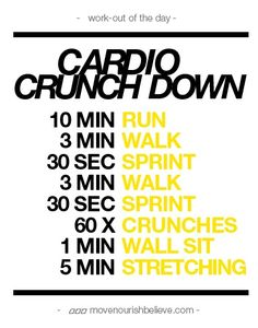 cardio #workout move-your-body
