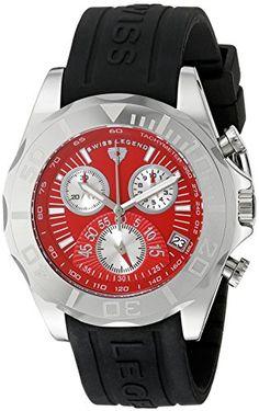 Swiss Legend Herren SL-18010-05 Tungsten Black/Red Silicone Armbanduhr - http://uhr.haus/swiss-legend/swiss-legend-herren-sl-18010-05-tungsten-black-red
