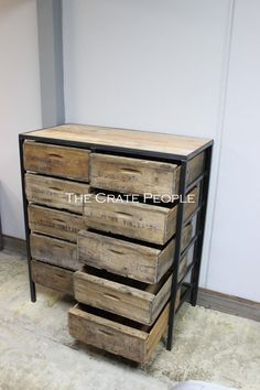 Dresser with vintage wood crates; $1582.49Cdn; by TheCratePeople on Etsy.com