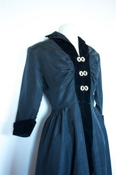 Vintage 1950s I LOVE LUCY Black Acetate Dress. $145.00, via Etsy.