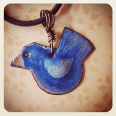 Enameled Copper Bluebird